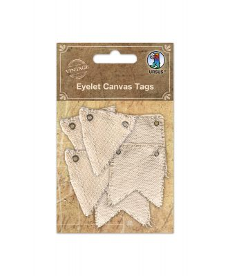 Eyelet Canvas Tags Art.-Nr 40660001
