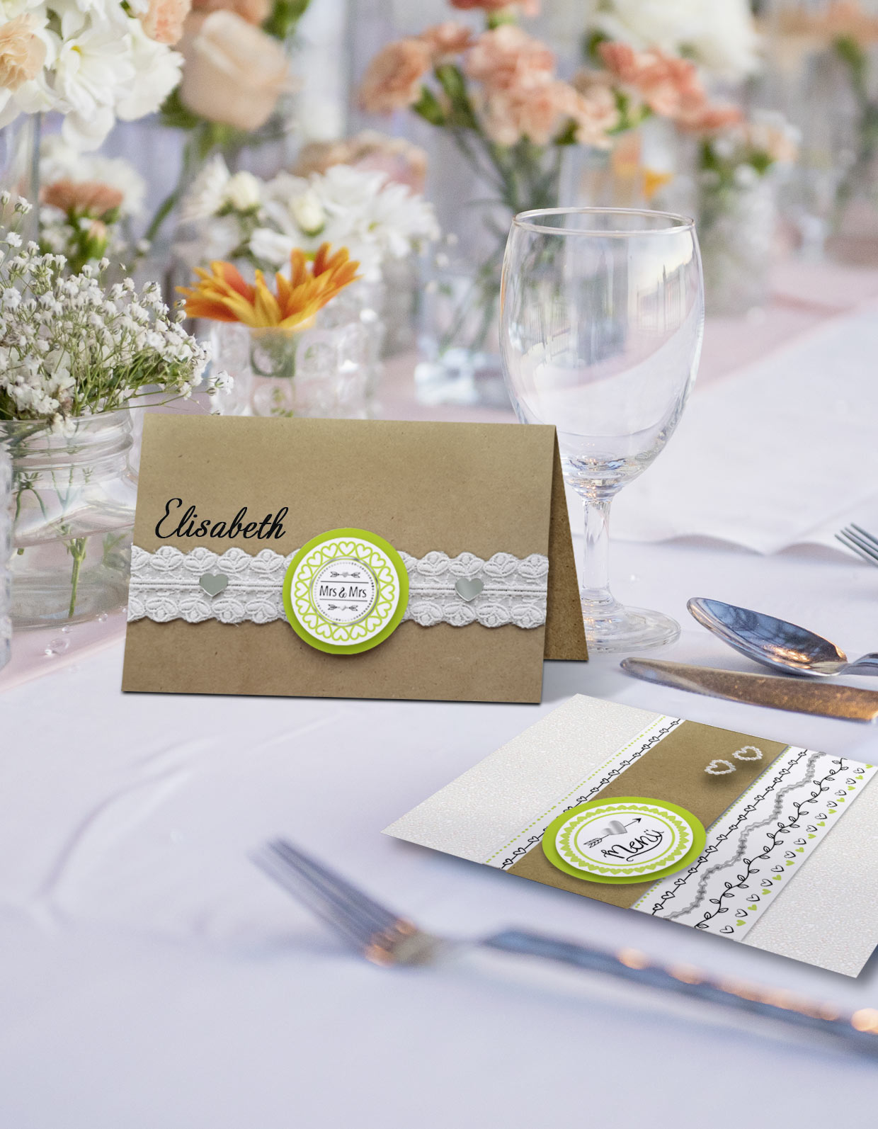 URSUS Hochzeit Sticker Mrs. & Mrs. Art.-Nr. 59530002F
