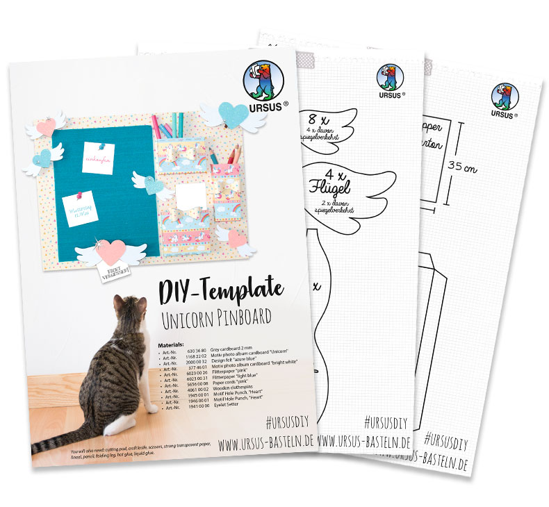 DIY Pinboard Cat URSUS en