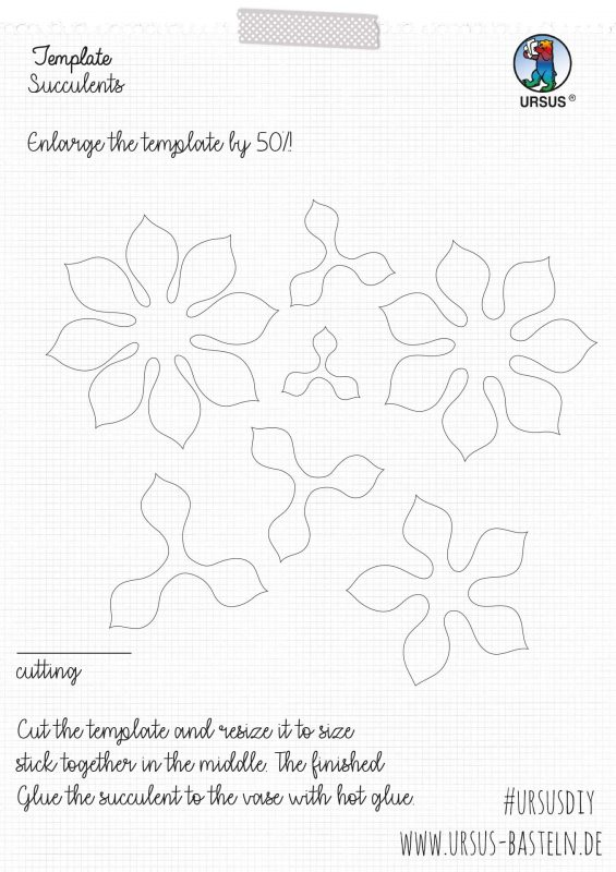 Instructions from URSUS Sewing Succulents Site 3
