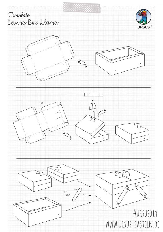 Instructions from URSUS Sewing box Lama Site 4