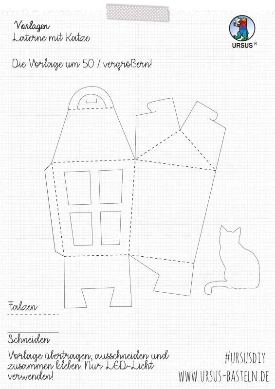 URSUS Bastelanleitung Laterne mit Katze Seite 2
