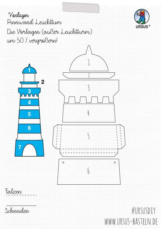 URSUS Bastelanleitung Leuchtturm Seite 2