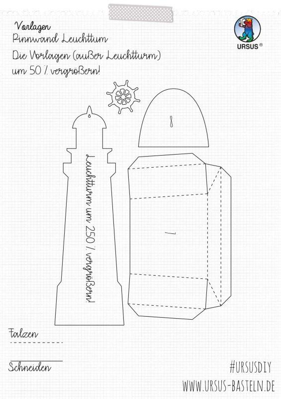 URSUS Bastelanleitung Leuchtturm Seite 3