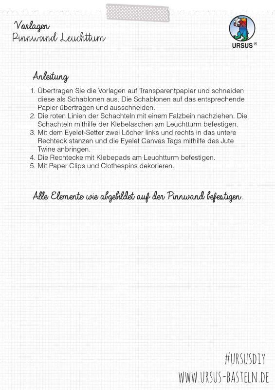 URSUS Bastelanleitung Leuchtturm Seite 4