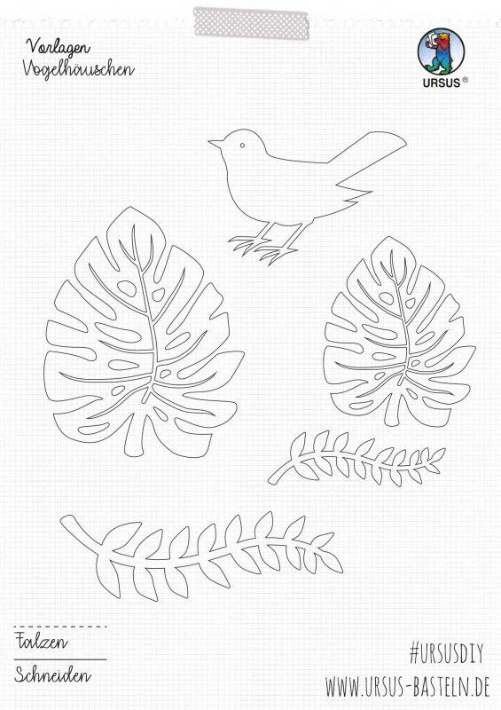 Bastelanleitung Vogelhäuschen deutsch 3