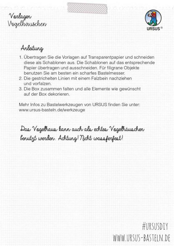 Bastelanleitung Vogelhäuschen deutsch 4