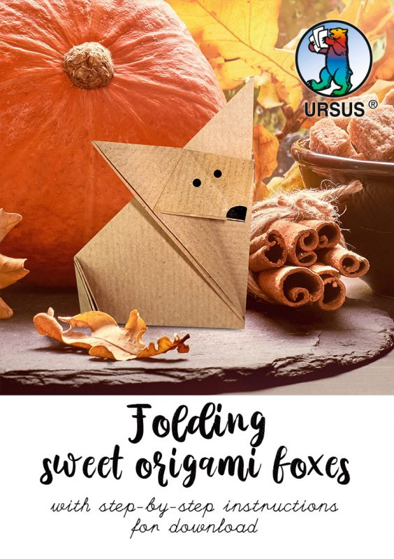 URSUS Folding sweet origami foxes