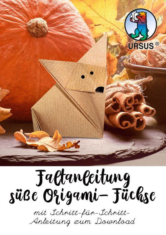 Origami Fuchs Faltanleitung