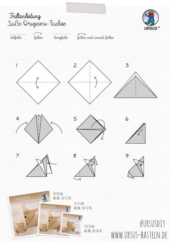 URSUS Bastelanleitung Origami Fuchs 2