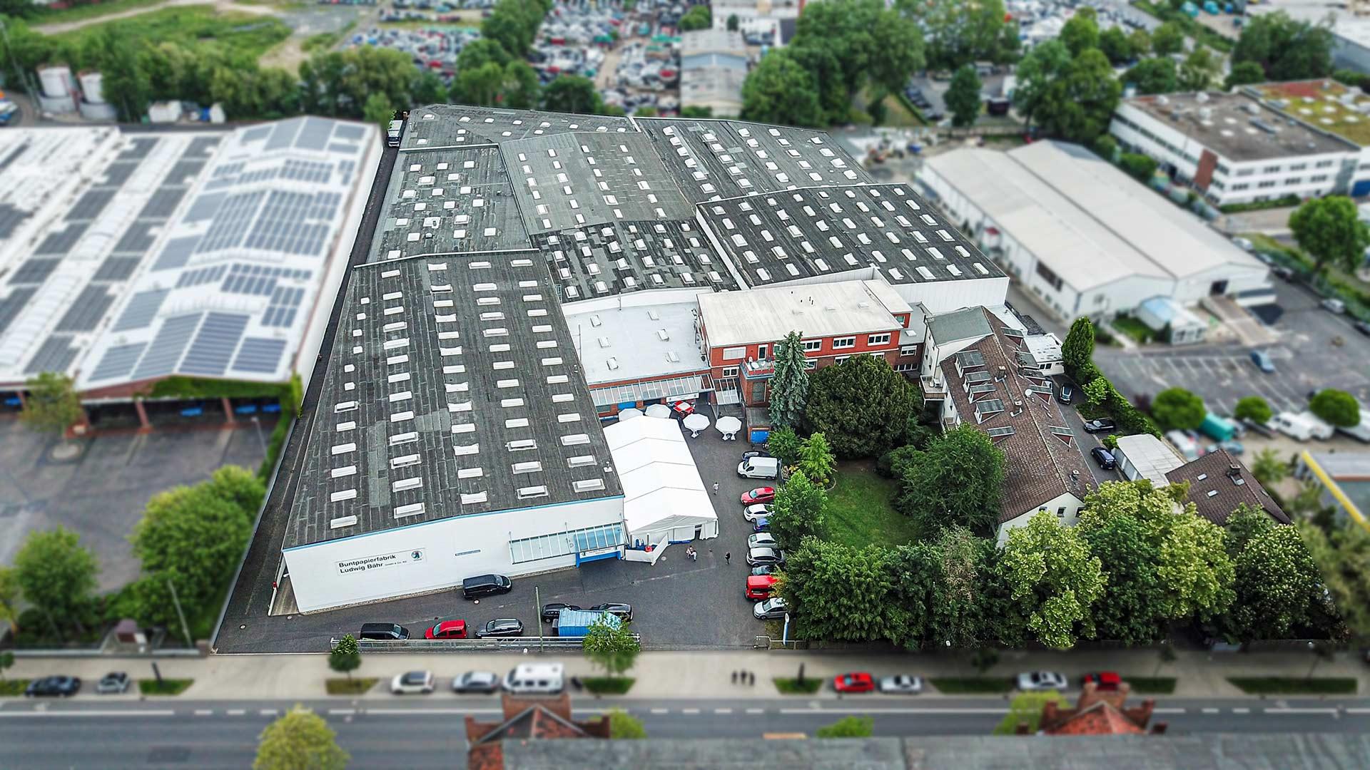 Buntpapierfabrik Ludwig Bähr GmbH & Co. KG - Company site Kassel