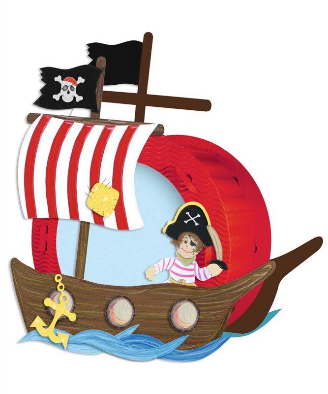 URSUS Laternen Bastelset rund Pirat