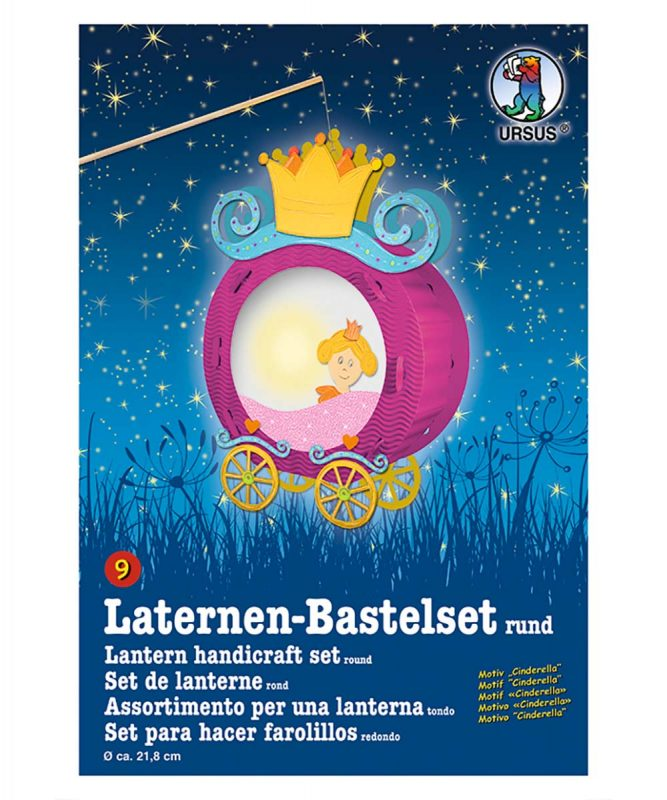 URSUS Laternen Bastelset Cinderella