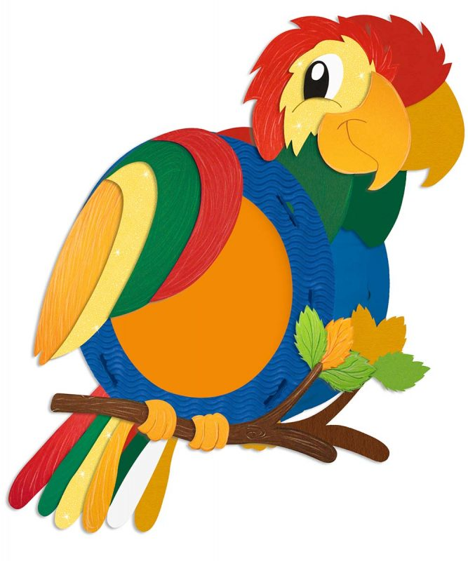 URSUS Laternen Bastelset Papagei
