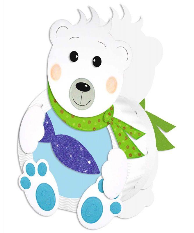 URSUS Laternen Bastelset Eisbär