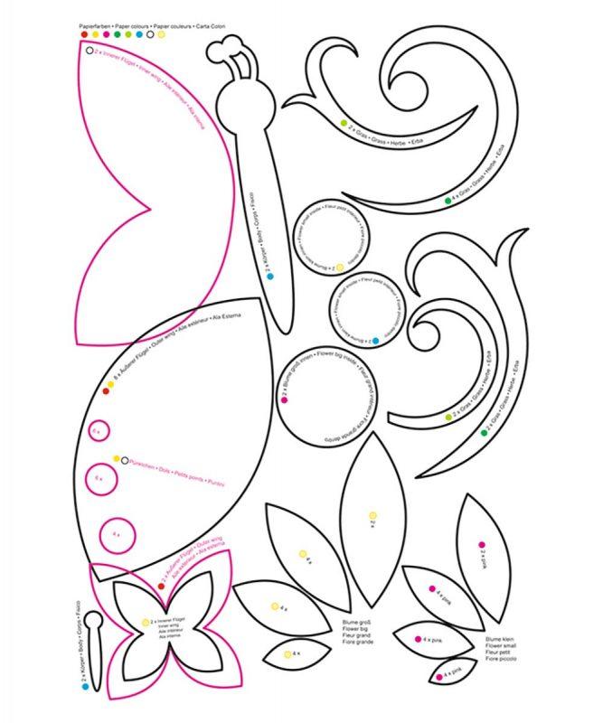 URSUS Laternen Bastelset Schmetterlinge