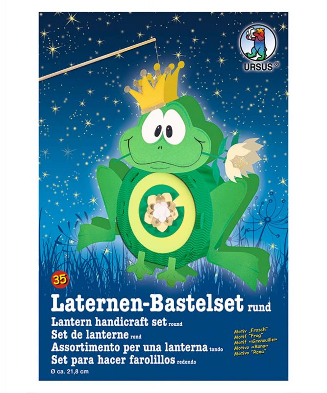 URSUS Laternen Bastelset Frosch