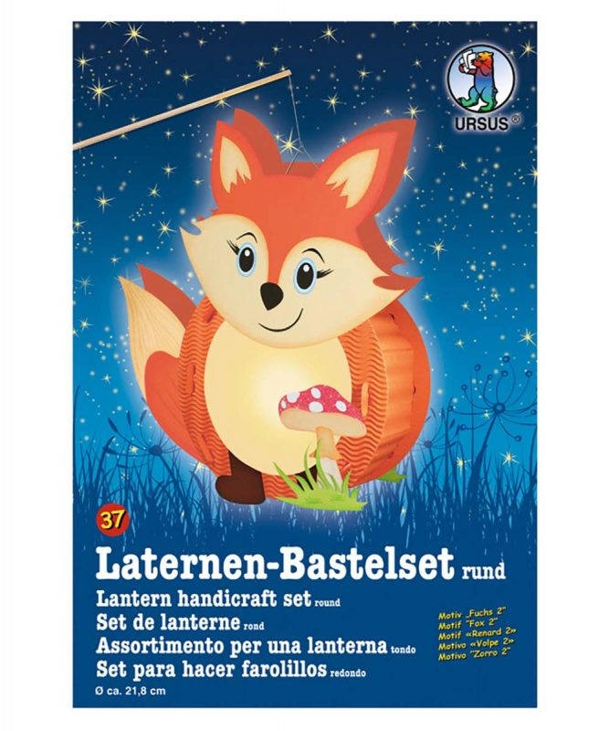 URSUS Laternen Bastelset Fuchs 2