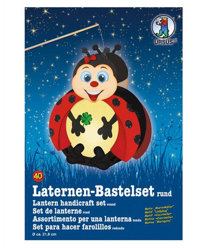 URSUS Laternen Bastelset Marienkäfer