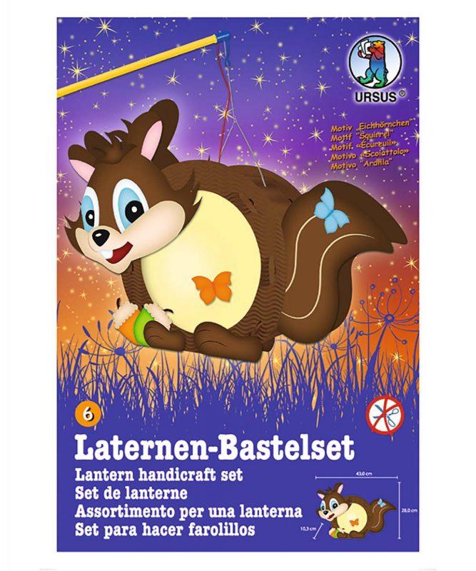URSUS Easy Line Laternen Bastelset Eichhörnchen