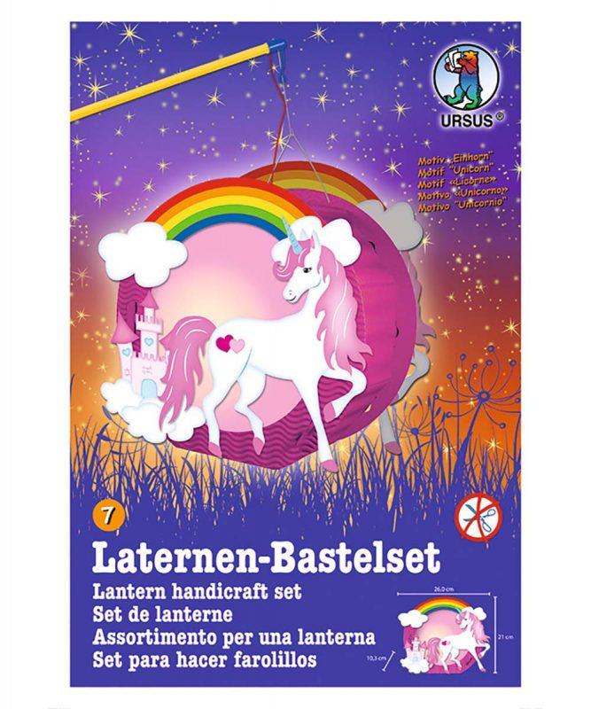URSUS Easy Line Laternen Bastelset Einhorn