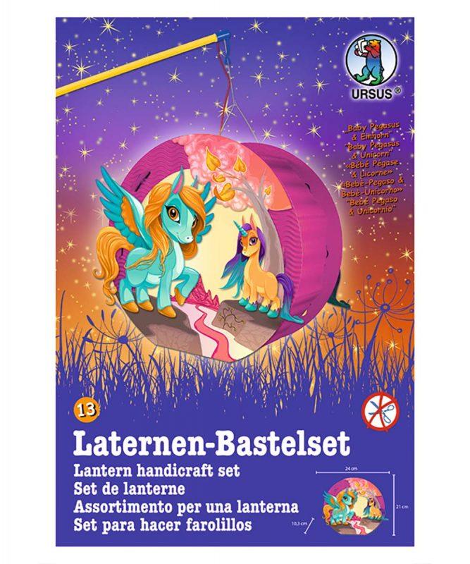URSUS Easy Line Laternen Bastelset Baby Pegasus und Einhorn