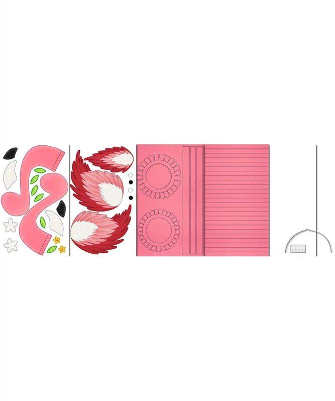 URSUS Laternen Bastelset Flamingo