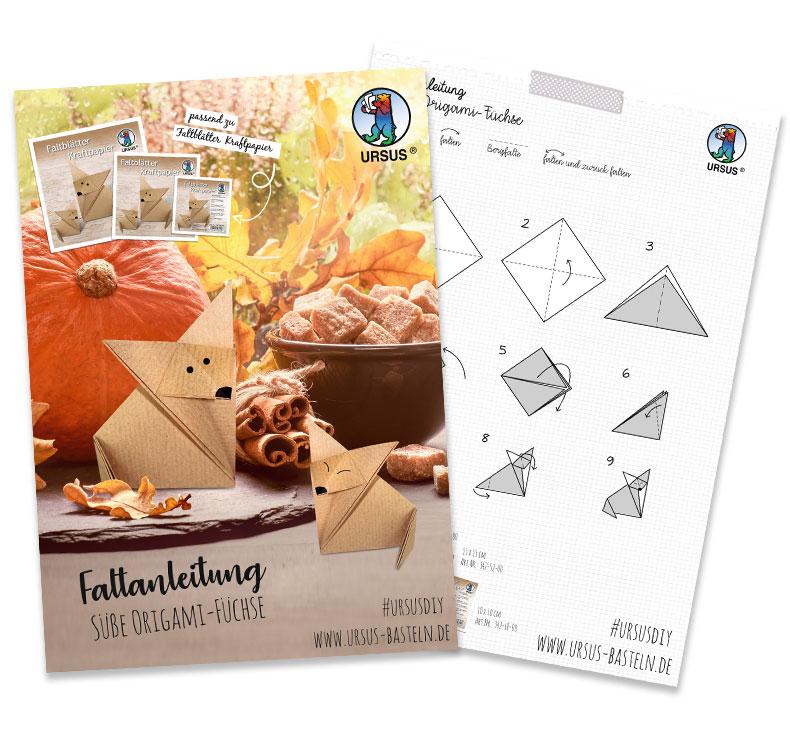 Origami Fuchs Anleitung