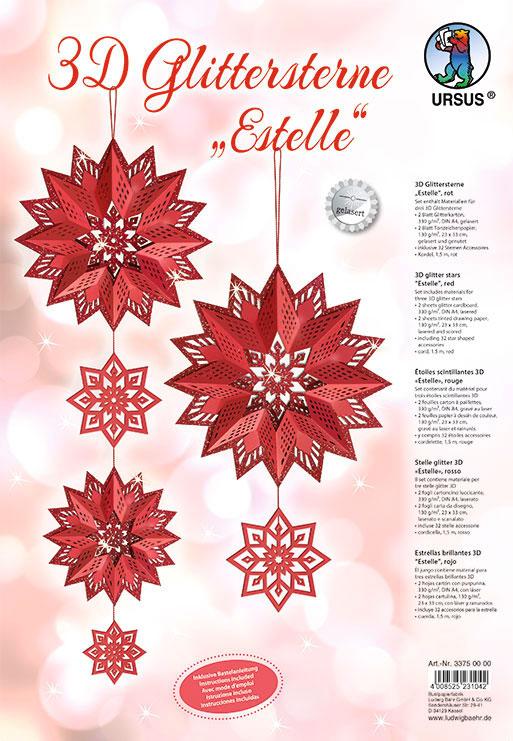URSUS Glittersterne Estelle Rot 33750000