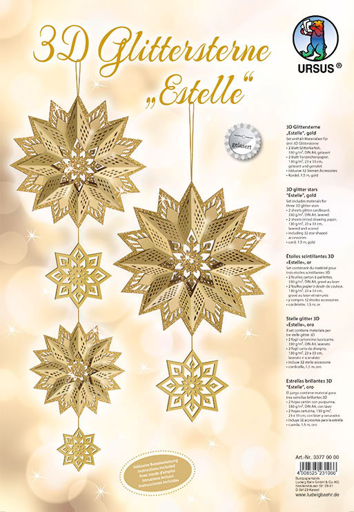 URSUS Glittersterne Estelle Gold 33770000