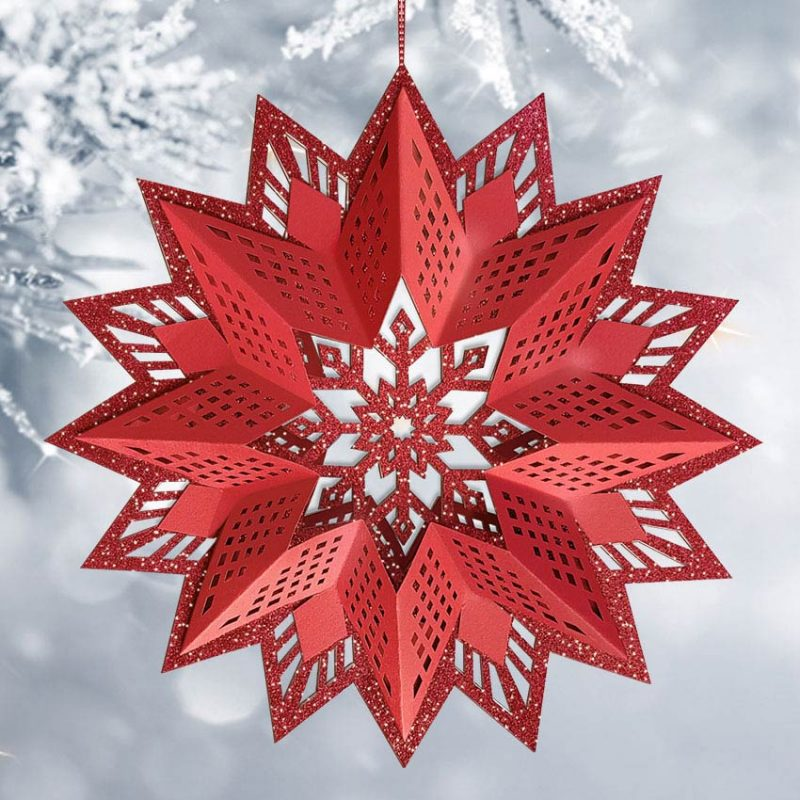 """URSUS® Glittersterne """"Estelle"""" rot Art.-Nr. 3375 00 00"""