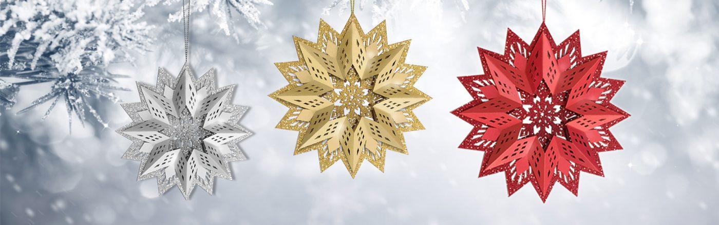 """URSUS® Glittersterne """"Estelle"""" – winterlicher Weihnachtszauber"""