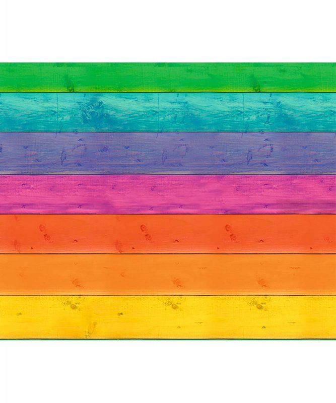 11332201 Motivfotokarton Holz Regenbogen
