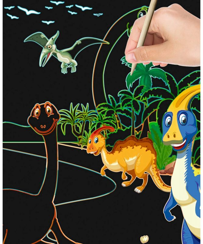 24530002F Mein magisches Kratzelbuch Drachen und Dinos