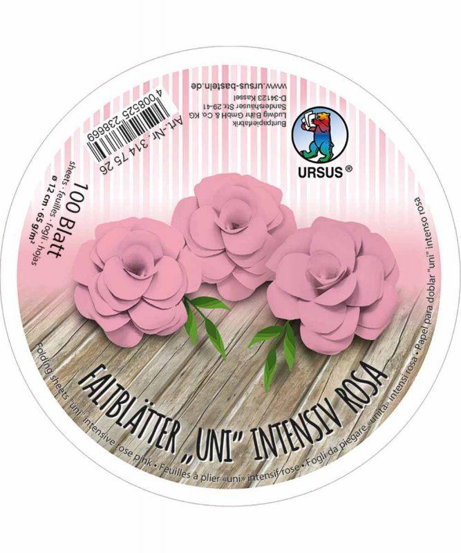 3147526 URSUS Faltblätter Uni Intensiv Rosa