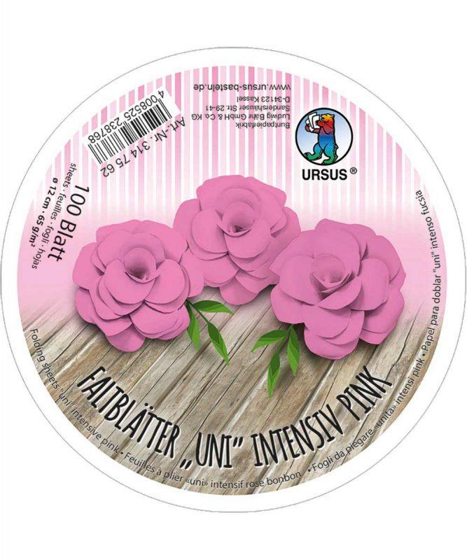 3147562 URSUS Faltblätter Uni Intensiv Pink