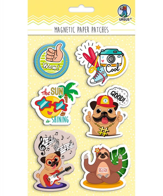 43010002 Magnetic Paper Patches Funky