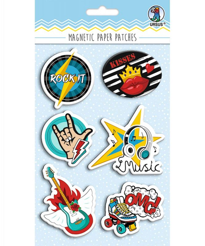 43010004 Magnetic Paper Patches Rockstar