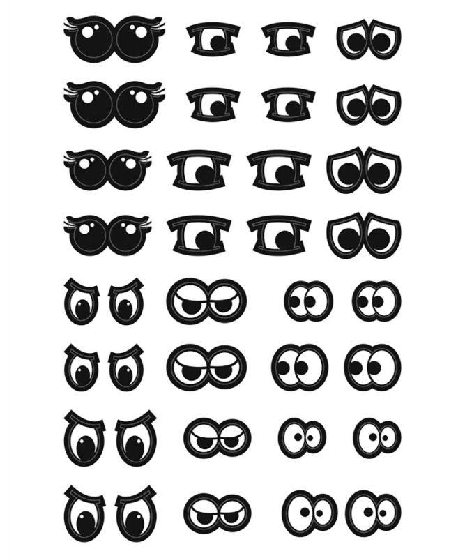 59520005F Sticker Augen