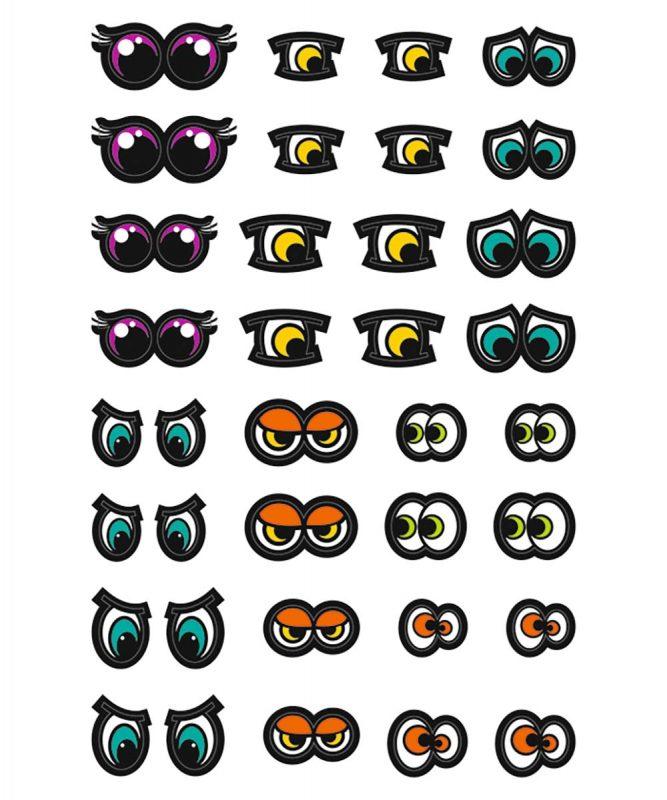 59520006F Sticker Augen
