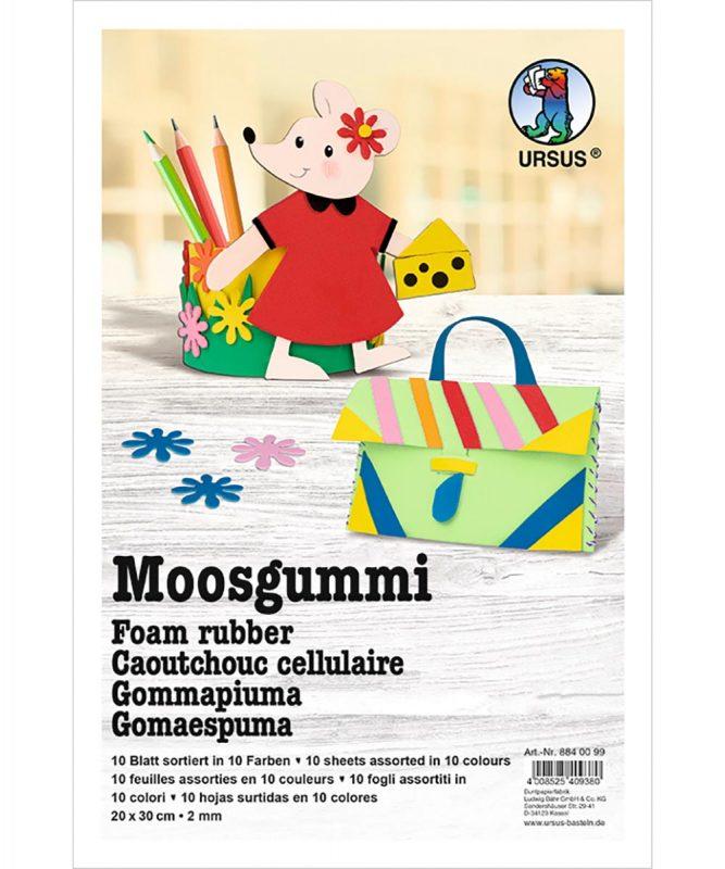 8840099 URSUS Moosgummi 10 Farben sortiert