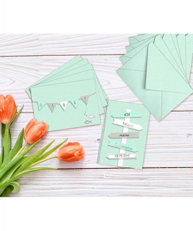 90260030 URSUS Einladungskarten mit Kuverts mint