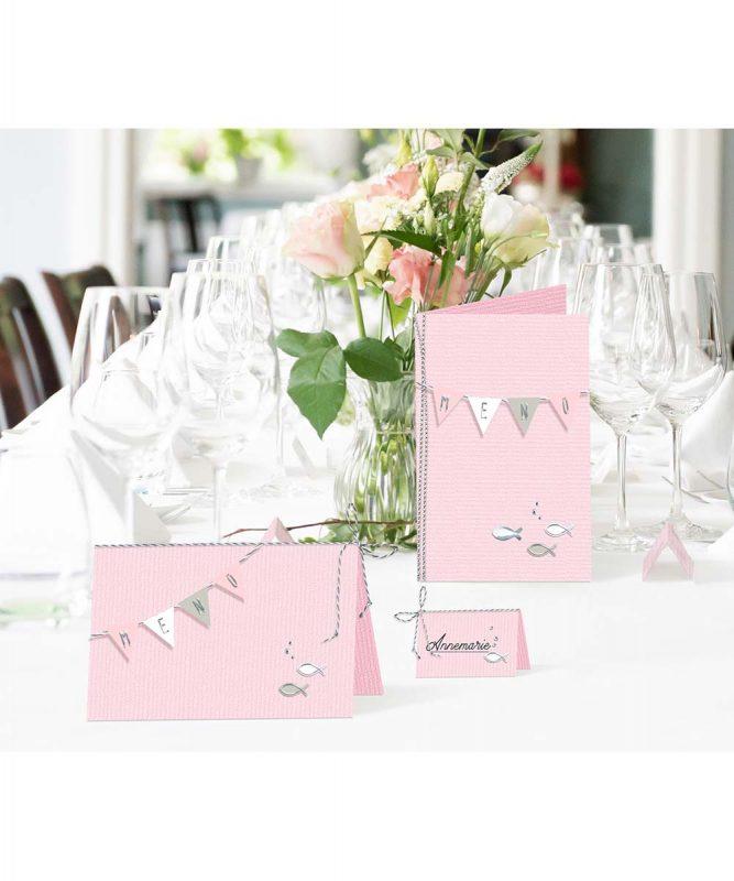 90270026 URSUS Menü und Tischkarten rosa