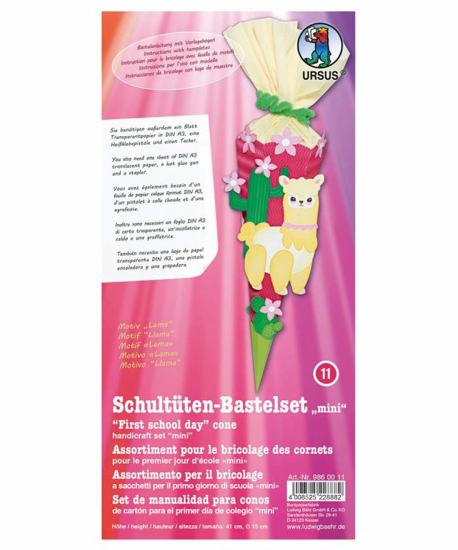 Schultüten Bastelset Mini Baby Lama Art.-Nr. 9860011