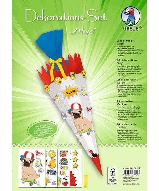 9880011F Dekorations Set Mops