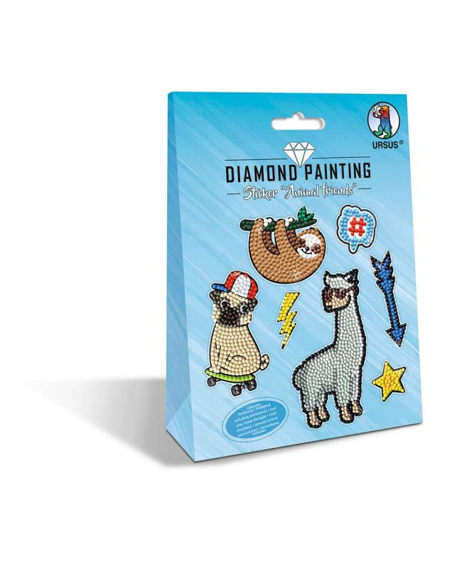 "URSUS® Diamond Painting Sticker ""ANIMAL FRIENDS"" Motiv: 05"