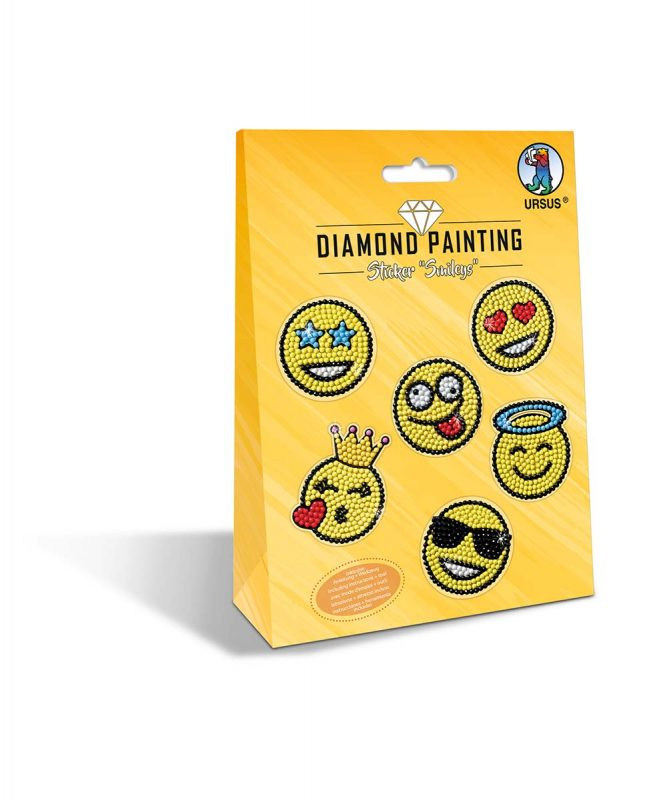 "URSUS® Diamond Painting Sticker ""SMILEYS"" Motiv: 06"