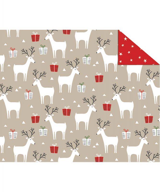 """Fotokarton """"Scandinavian Christmas"""" Rentiere 300 g/m² DIN A4 Art.-Nr.: 11274602"""