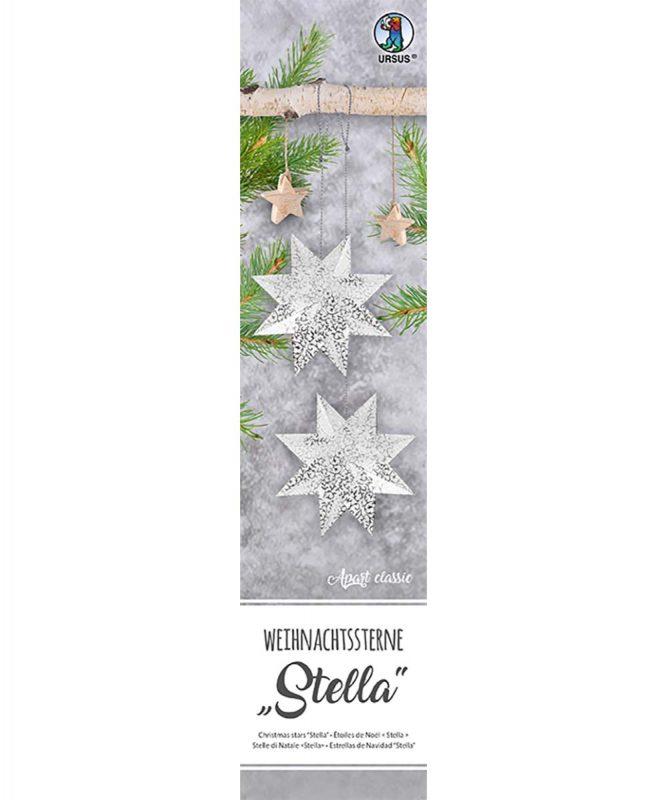 """Weihnachtssterne """"Stella"""" 33 Blatt """"Apart Klassik"""", weiß/silber, 110 g/m² Art.-Nr.: 16140000"""