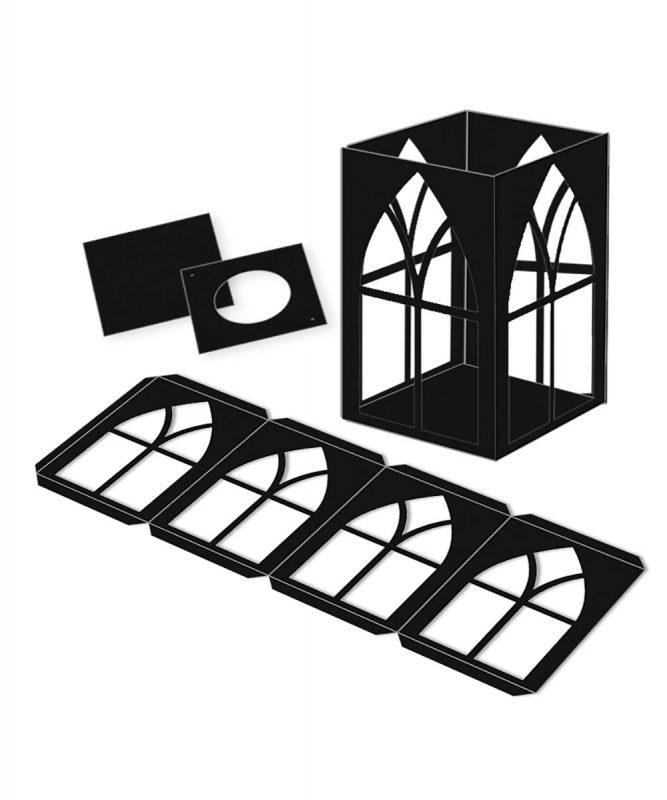 """Laternenpackung """"Fenster"""" 300 g/m² Art.-Nr.: 18870090"""